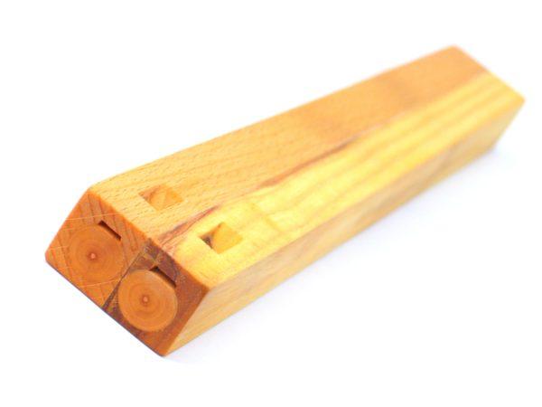 šestidírková jasanová píšťala dvojačka - lidový hudební nástroj