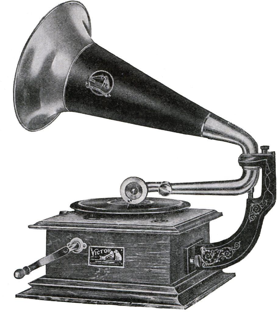 Victor Talking Machine, reklamní ilustrace