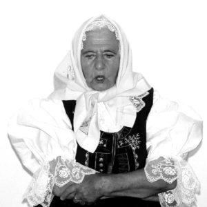 lidová zpěvačka Jiřina Bolfová z Velkých Karlovic